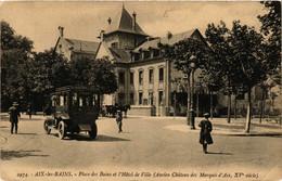 CPA AIX-les-BAINS Place Des Bains Et L'Hotel De Ville (Ancien Chateau (653443) - Aix Les Bains