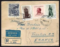 RECOMMANDÉ DE BEOGRAD - 1952 - POUR VÉZELISE - - Cartas