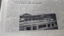 TRIBUNA ILLUSTRATA 1937 NASCITA DI CINECITTA' NICOLO' CAROSIO RADIOCRONISTA - Sin Clasificación