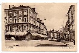 ALENCON --1948 -- Le Carrefour Cazault ( Petite Animation , Voiture Citroen Traction )..timbre..cachet....à Saisir - Alencon