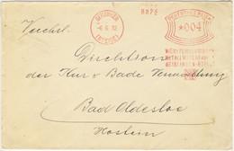 """ALLEMAGNE / DEUTSCHLAND - 1932 Firmen Freistempel """"WÜRTTEMBERGISCHE METALLWARENFABRIK ..."""" GEISLINGEN Auf Umschlag - Cartas"""