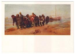 BARGE HAULERS ON THE VOLGA, 1870-1873 By ILYA REPIN. Unused Postcard - USSR, 1957 - Paintings
