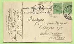 137 Op Kaart PMB 5  6/10/18-> Amsterdam,Censuur 56 +  CENSUUR C.F OVAAL !!(Folkestone)(3532) - Belgisch Leger