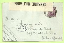 140 Brief PMB 4 -> VELP (NL.), Strookje CENSURE MILITAIRE 14 + CENSUUR C.F OVAAL !!(Folkestone)(3533) - Belgisch Leger