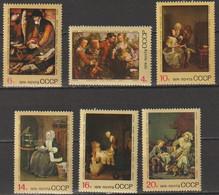 UdSSR 1974 Mi-Nr.4301 - 4306 ** Postfrisch Ausländische Gemälde In Museen Der UdSSR(R855)günstige Versandkosten - Unused Stamps