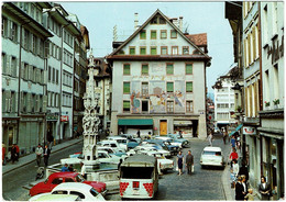 CPSM Suisse Lucerne Luzern Weinmarkt, Timbre 1970 - LU Lucerne