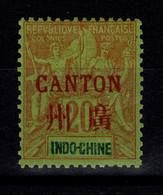 Canton - YV 9 N* (trace) Trés Frais - Unused Stamps
