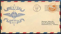 USA - GROVE CITY ==> COATESVILLE /1939 ENVELOPPE PREMIER VOL ILLUSTREE - FFC (ref 8242p) - Storia Postale