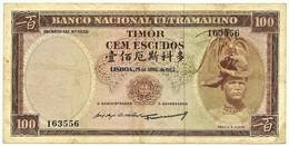 TIMOR - 100 ESCUDOS - 25.04.1963 - Pick 28 - Sign. 3 - REGULO D. ALEIXO - PORTUGAL - Timor