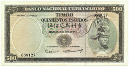 TIMOR - 500 ESCUDOS - 25.04.1963 - Pick 29 - Sign. 8 - REGULO D. ALEIXO - PORTUGAL - Timor