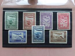 GRECIA 1933 - Posta Aerea - Soggetti Vari Nn. A15/21 Nuovi ** (10 D. Punto Carta) + Spese Postali - Ongebruikt