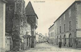 """CPA FRANCE 46 """" Cahors, Rue De La Barre"""". - Cahors"""