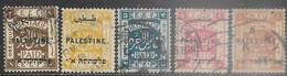 Palestine 1920  Sc#15-9  5 Diff Used   2016 Scott Value $12.35 - Palestine