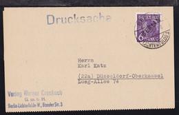 Schwarzaufdruck 6 Pfg. Auf Drucksache Des Verlag Werner Crombach Ab Berlin- - Sin Clasificación