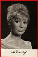 00570 Tatiana Bestaeva Pseudo Actor Actress Autograph Actor Actress Movie Actor Actress Film 1970 USSR Soviet Card - Acteurs