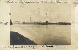 Carte Photo Pont De Roppenheim Sur Le Rhin RV - Altri Comuni