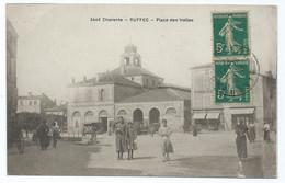 3414 RUFFEC 3446 Place Des Halles 1917 Epicerie Heraud Pour Tarbes Saffroy Ed Braun - Ruffec