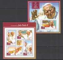 ST1462 2015 S. TOME E PRINCIPE FAMOUS PEOPLE ANNIVERSARY POPE JOAO PAULO II KB+BL MNH - Popes