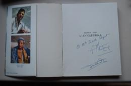 Signed Louis Lachenal Maurice Herzog Regards Vers Annapurna Avec Carte 1951 Himalaya Mountaineering Escalade Alpinisme - Unclassified