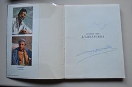 Signed Louis Lachenal Lionel Terray Regards Vers Annapurna Avec Carte 1951 Himalaya Mountaineering Escalade Alpinisme - Unclassified