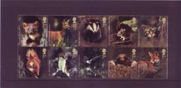 Gran Bretagna 2004 - Animali Del Bosco, 10v I Blocco MNH** Integro - Unused Stamps