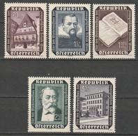 Autriche N° 822 - 826 * - 1945-60 Unused Stamps