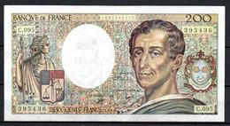490-France 200fr 1990 C095 - 200 F 1981-1994 ''Montesquieu''