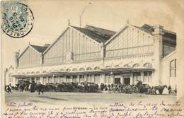 ORLEANS  La Gare Fiacres  Recto Verso - Orleans