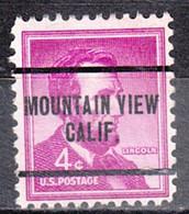 Locals USA Precancel Vorausentwertung Preo, Locals California, Mountain View 259 - Precancels