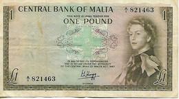 1 Pound 1967 - MALTE - Central Bank Of Malta - Malta