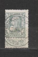 COB 78 Centraal Gestempeld Sterstempel Oblitération Centrale Relais étoile PORCHERESSE (LUXEMBOURG) - 1905 Thick Beard