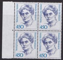 BRD, 1992,  Nr.1614 ** Frauen Der Deutschen Geschichte (XIV), 1 Viererblock Mit Linkem Rand - Neufs
