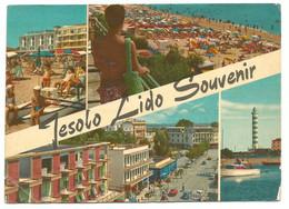 A5257 Jesolo Lido Souvenir (Venezia) - Panorama Vedute Multipla / Viaggiata 1965 - Other Cities