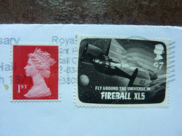 2011  2 Stamps Used On A Letter  FIREBALL XL5 - Used Stamps