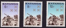 Katanga 0079/81 Gendarmerie Katangaise Sans Gomme Without Gum - Katanga
