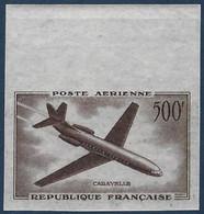 France Poste Aérienne N°36** 500Fr Caravelle Essai De Couleur En Gris Violet Bord De Feuille TTB - 1927-1959 Neufs
