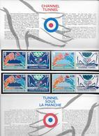 1994 - POCHETTE EMISSION COMMUNE FRANCE / GB  - TUNNEL SOUS LA MANCHE - Ungebraucht