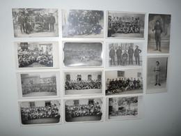 SUPERBE LOT 14 CARTES PHOTOS MILITAIRES MILITARIA 1914/1918 UNIFORMES ARMEMENTS MATERIELS - Weltkrieg 1914-18