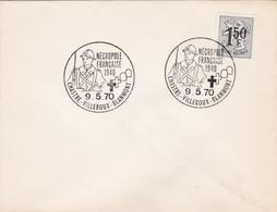 Enveloppe 1518 Chastre Villeroux Blanmont Nécropole Française 1940 - Brieven En Documenten