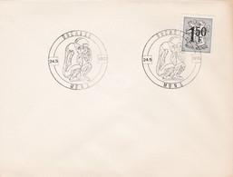 Enveloppe 1518 Ducasse Singe Porte-bonheur Mons - Brieven En Documenten