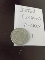 RARE  France Jeton Monnaie De Nécessité  Concours Mickey I. Diam. 20 Mm en L Etat Sur Les Photos(depart  à 1  Euro) - Monetary / Of Necessity
