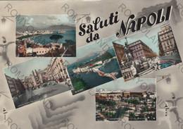 CARTOLINA SALUTI DA  NAPOLI ,CAMPANIA,BELLA ITALIA,MARE,SOLE LUNGOMARE,CULTURA,STORIA,RELIGIONE,VIAGGIATA 1964 - Napoli (Naples)