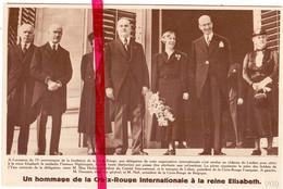Orig. Knipsel Coupure Tijdschrift Magazine - Laken Laeken - Hommage Croix Rouge , Rode Kruis - 1939 - Non Classés