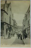 51 / Reims  (Marne) La Rue Et L'Eglise Saint Jacques - Reims