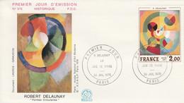 FDC 1976 PEINTURE DE DELAUNAY - 1970-1979