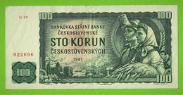 TCHECOSLOVAQUIE / STO KORUN / 100 COURONNES / 1961 - Czechoslovakia