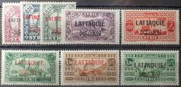 R2452/1006 - 1931/1933 - COLONIES FR. - LATTAQUIE - N°1 à 8 NEUFS* - Unused Stamps