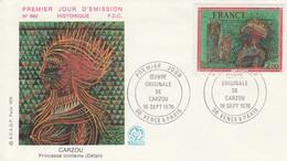FDC 1976 PEINTURE DE CARZOU - 1970-1979