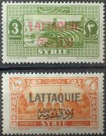 R2452/1007 - 1931/1933 - COLONIES FR. - LATTAQUIE - N°10 à 11 NEUFS* - Unused Stamps