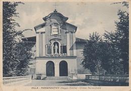 VILLA-MASSENZATICO-REGGIO EMILIA-CHIESA PARROCCHIALE-CARTOLINA VIAGGIATA IL 22-11-1955 - Reggio Nell'Emilia